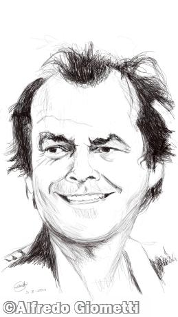 Jack Nicholson caricatura caricature portrait
