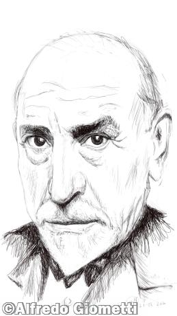 Luigi Pirandello caricatura caricature portrait