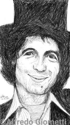 Rino Gaetano caricatura caricature portrait