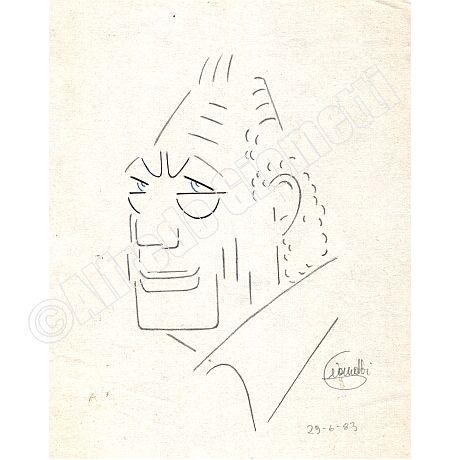 Agnelli caricatura caricature portrait