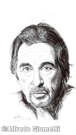 Al Pacino caricatura caricature portrait