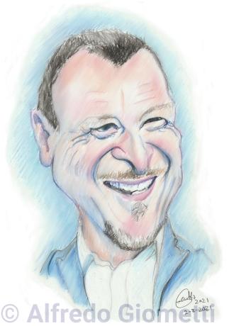Amadeus caricatura caricature portrait