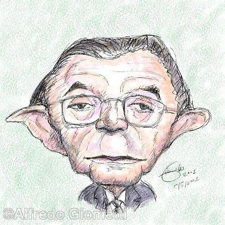 Giulio Andreotti caricatura caricature portrait