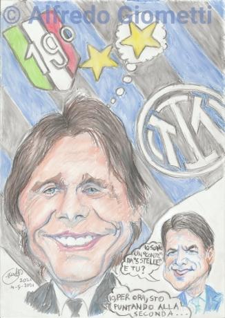 Antonio Conte caricatura caricature portrait