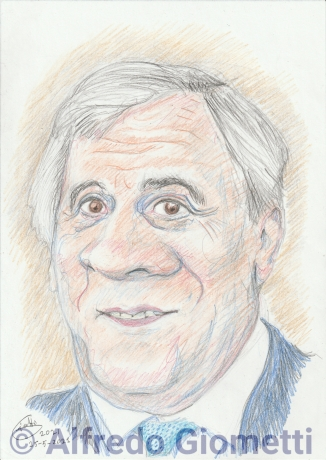 Antonio Tajanii caricatura caricature portrait