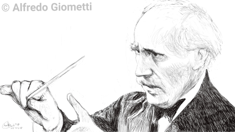 Arturo Toscanini caricatura caricature portrait