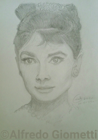 Audrey Hepburn ritratto portrait