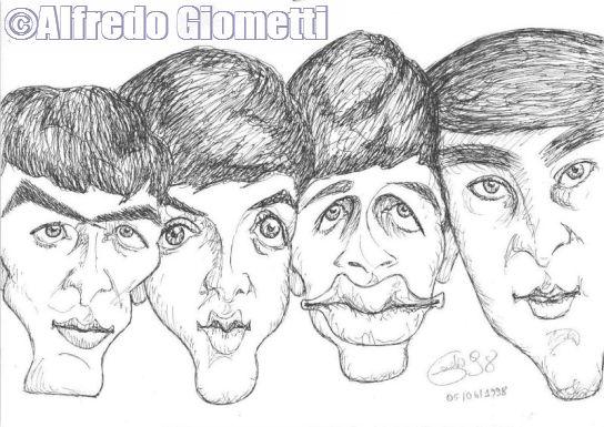 Caricatura dei Beatles caricatura caricature portrait