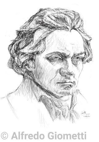 Beethoven caricatura caricature portrait