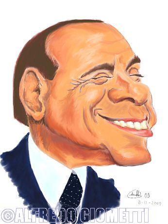 Silvio Berlusconi caricatura caricature portrait