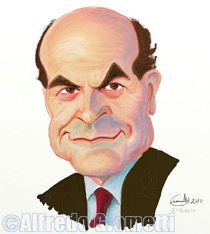 Pierluigi Bersani caricatura caricature portrait