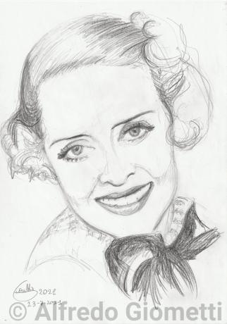 Bette Davisi portrait ritratto portrait
