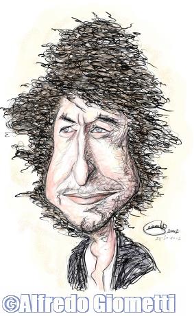 Bob Dylan caricatura caricature portrait