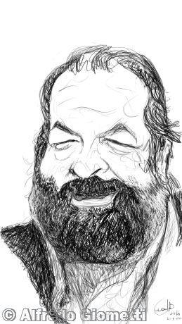 Bud Spencer caricatura caricature portrait