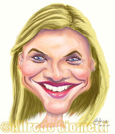 Cameron Diaz caricatura caricature portrait