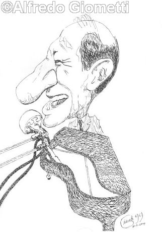 Renato Carosone caricatura caricature portrait