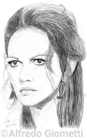 Claudia Cardinale ritratto portrait