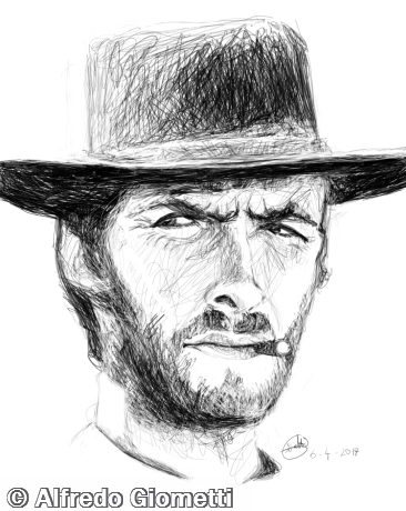 Clint Eastwood caricatura caricature portrait