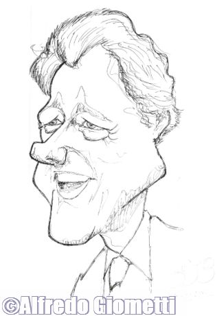 Bill Clinton caricatura caricature portrait