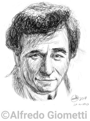 Peter Falk - tenente Colombo caricatura caricature portrait