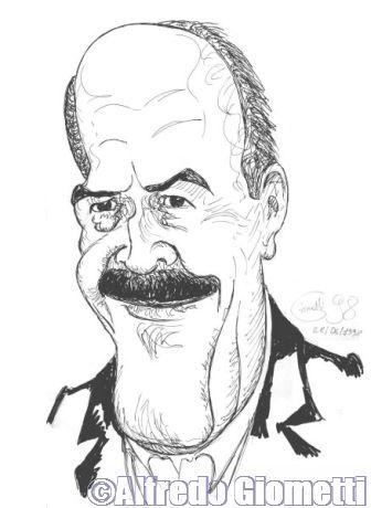 Maurizio Costanzo caricatura caricature portrait
