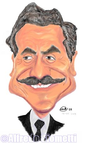 Massimo D'Alema caricatura caricature portrait
