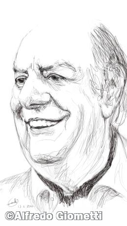 Dario Fo caricatura caricature portrait