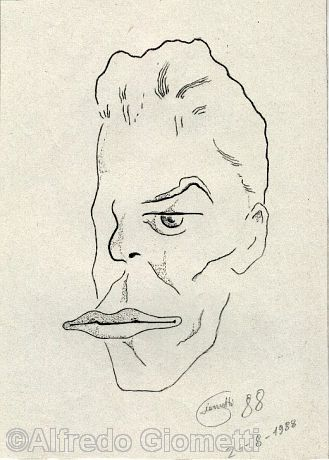 David Bowie caricatura caricature portrait