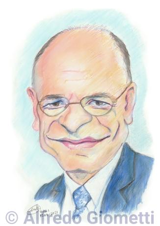 Enrico Letta caricatura caricature portrait