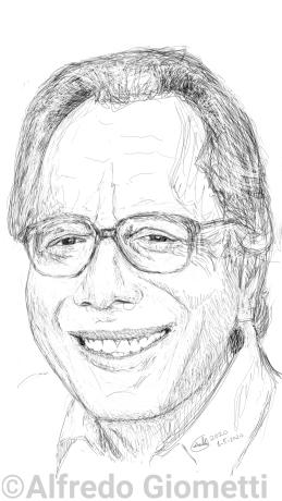 Enzo Jannacci caricatura caricature portrait