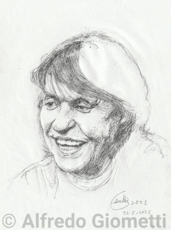 Fabrizio de Andrè ritratto portrait