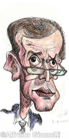 Piero Fassino caricatura caricature portrait