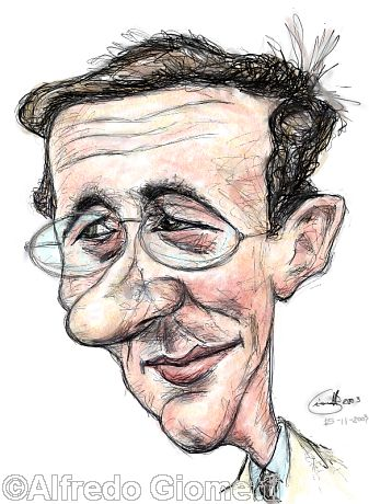 Gianfranco Fini caricatura caricature portrait