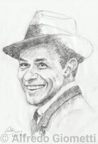 Frank Sinatrai portrait ritratto portrait