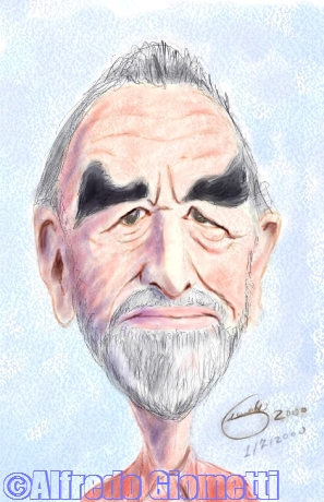 Vittorio Gassman caricatura caricature portrait