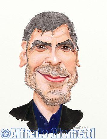 George Clooney caricatura caricature portrait