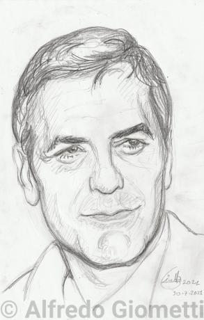 George Clooney ritratto portrait