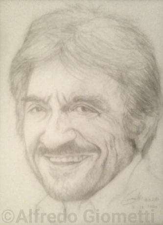 Gigi Proietti ritratto portrait