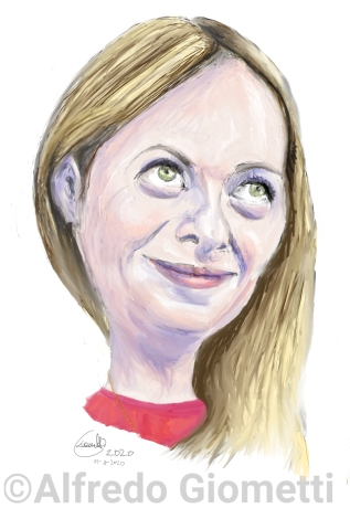 Giorgia Meloni caricatura caricature portrait