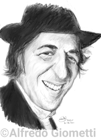Giorgio Gaber caricatura caricature portrait