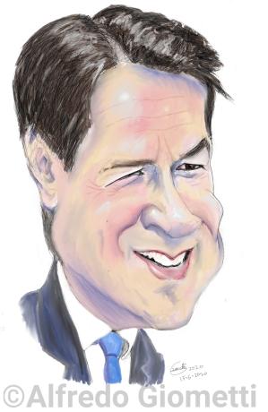 Giuseppe Conte caricatura caricature portrait