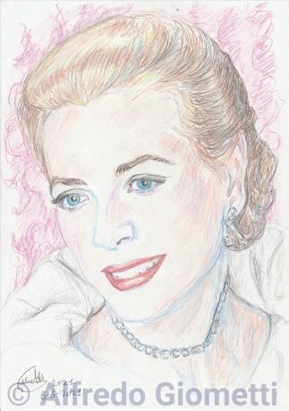 Grace Kellyi ritratto portrait