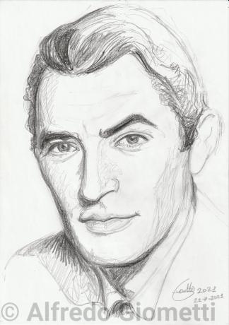 Gregory Peck ritratto portrait