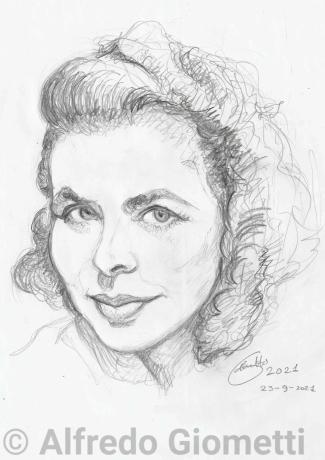 Ingrid Bergmani ritratto portrait
