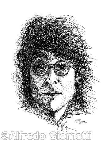 John Lennon caricatura caricature portrait