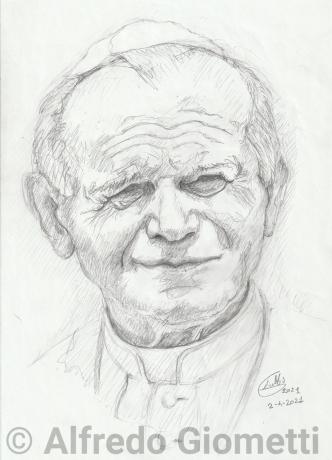 Karol Wojtyla - Papa Giovanni Paolo II - Pope - ritratto portrait