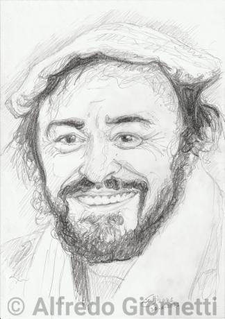 Luciano Pavarotti ritratto portrait