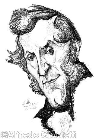 Alessandro Manzoni caricatura caricature portrait