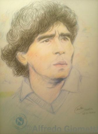Diego Armando Maradonai ritratto portrait