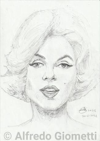 Marilyn Monroe ritratto portrait